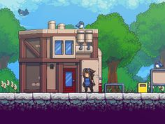 still working on this from time to time. #gamedev #screenshotsaturday #pixelart I really need to give it a name :p