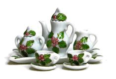 6 pcs Miniature Afternoon Tea Set Handpaint  Chicken for Dollhouse Kit free ship
