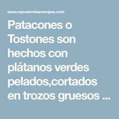 Patacones o Tostones Salsa Picante, Guacamole, Tomato Sauce, Appetizers, Onion, Cooking, Scrap, Facts, Restaurants