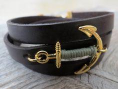 Herren Armband Anker-Armband Herren Herren Lederarmband