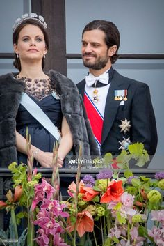 Prince Carl Philip and Princess Sofia of Sweden attend the official Gala dinner at the Royal Palace on May 9, 2017 in Oslo, Norway. King Harald and Queen Sonja of Norway are celebrating their 80th birthdays. (Photo by Patrick van Katwijk/Getty Images)