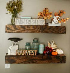 Rustic DIY shelves