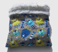 Monster Snuggle Sack, Hedgehog Cuddle Bag, Sugar Glider Pouch, Cozy Den, Hamster Bedding, Chinchilla Cave, Small Animal Bedding by ComfyPetPads on Etsy