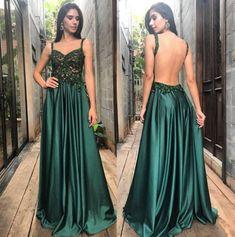 vestido de festa verde para formandas