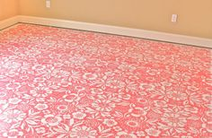 Isn't this stenciled floor beautiful? Gertie, you are inspiring! I also want a sewing room with a floor like this.