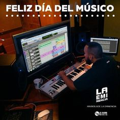 "Via Instagram LAEMINENCIAreal #FelizDiaDelMusico ""La Música es mi vida apláudeme a mi"" Exitos a todos! #LaEminencia  #DondeSiSeHaceMusic @laqadramusic #studioflow #estudiodegrabacion . . . . . . .  #productormusical  #protools #flstudio #dembow #reggaeton #musicaurbana  #diainternacionaldelmusico #producer #mixing #mastering #diadelmusico . . . . . . . .#siguemeytesigo #beardbrothers #tw #fb"