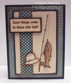 For Those Who Bait! by - Cards and Paper Crafts at Splitcoaststampers For Those Who Bait! by - Cards and Paper Crafts at Splitcoaststampers Birthday Cards For Boys, Masculine Birthday Cards, Bday Cards, Masculine Cards, Male Birthday, Fathers Day Cards, Paper Cards, Men's Cards, Craft Cards