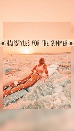 Beach Wedding Hair, Beach Hair, Cute Simple Hairstyles, Easy Hairstyles, Fun Summer Activities, Fun Diy Crafts, Ocean Photography, Beach Waves, Beach Pictures
