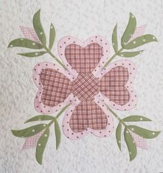 Heart of Mine Applique Workshop A new design from Julie this workshop teaches you to make this great heart shaped four leaf clover with tulip stems. One day only - One Day Only, Four Leaf Clover, Stems, Tulip, Heart Shapes, Tuesday, Applique, Workshop, Kids Rugs