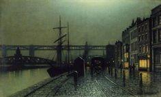The Quayside, Newcastle upon Tyne  Arthur E. Grimshaw