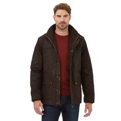 Barneys Dark brown leather jacket 3a8104a7700