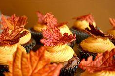 Edible leaves cupcak