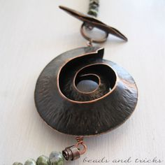 Un'ammonite di rame | Handmade by Beads and Tricks