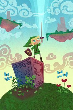 Skyward 12x18 Zelda poster, via Etsy.