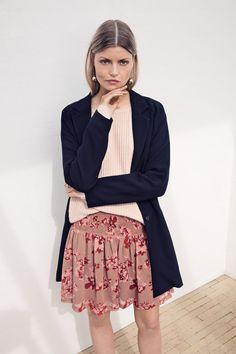 ICHI skirt & long cardigan