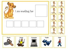 Sometimes it can be difficult getting a child who as Autism through a task. Why not make it fun with one of their favorite characters. This token boards character is: Simba. His tokens are of his buddy Timon. This is a 5 token token board. I have included extra tokens, because the tokens get lost easily.