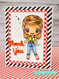 Release Day and E;lodie shares her Betty Lou! #stampanniething #rubberstamps  #chibistamps  #chibi #papercrafts #handmade #copic #cre8time