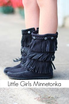 Minnetonka: Girls Fringe Boot {Black} from The Fair Lady Boutique. Shop more products from The Fair Lady Boutique on Wanelo. Madison Lee, Miss Priss, Fair Lady, Stuff And Thangs, Fringe Boots, Kids Boots, Little Girl Fashion, Ladies Boutique, Soft Suede