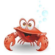 Granchio Cartoon-Crab Cartoon-Vector by BluedarkArt, Royalty free ...