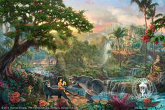 """Disney painting the """"Jungle Book"""""""