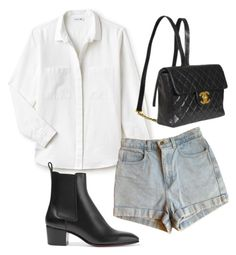 """""""Untitled #5124"""" by lilaclynn ❤ liked on Polyvore featuring Lacoste, American Apparel, Chanel, Christian Louboutin, christianlouboutin and Louboutin"""