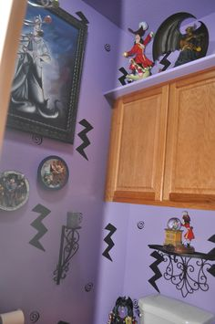 Disney Villains bathroom; decorating www.mydisneylove.com