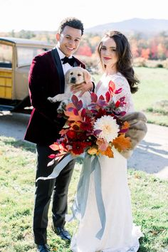 Tartan and stone fruit wedding decor play a central role in this late fall elopement at Mount Monadnock. | Events By Sorrell #newhampshirewedding #fallwedding Fall Wedding Bouquets, Fall Wedding Flowers, Fall Wedding Decorations, Fall Wedding Colors, Fall Wedding Dresses, Flower Bouquet Wedding, Lace Wedding, Fruit Wedding, Mountain Elopement