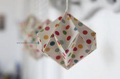 you always need a diamond . 2.5'' rainbow d❀ts origami diamonds -mycrazyhands.com