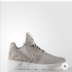 Adidas Tubular Running shoes I'm in search of a size 7.. The ones I have are a 6.5. These fit a half size big. I'm not selling my pair unless I find a 7, so don't ask my lowest. These are brand new in the box. Only worn to try on. I don't model.. But I will add pictures if requested. Adidas Shoes
