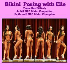 NPC Bikini division posing, posing for bikini competition