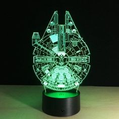 Action & Toy Figures Whistling Wolf Animal Figure Flash Model 3d Illusion Led Nightlight Luminous Colorful Changing Light Desk Lamp Model Toys