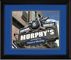 Tampa Bay Lightning Personalized Pub Room Sign. Your Name on a sign as proprietor of your NHL Fan Room or Game Room.