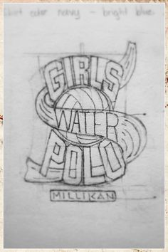 Tee Sketch for Millikan Girls Water Polo