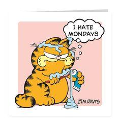 I hate mondays © Paws Inc. Garfield Monday, Garfield Quotes, Garfield Cartoon, Garfield And Odie, Garfield Comics, Funny Friday Memes, Friday Humor, Funny Monday, Monday Monday