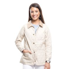 Barbour® Pearl Spring Quilted Annandale Jacket in Pearl/Summer | Tuckernuck $199