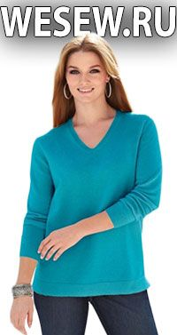 Ready pattern pullover for obese women