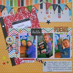 Simple Stories - Smarty Pants Collection - 12 x 12 Double Sided Paper - Quote and Photo Mat Elements School Scrapbook Layouts, Scrapbook Albums, Scrapbooking Layouts, Scrapbook Cards, Poems About School, School Poems, Baby Album, Boy Quilts, Simple Stories