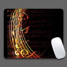 Musical Notes Mouse Pad Computer Gaming Mouse Pads