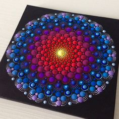 My most intricate mandala painting so far!