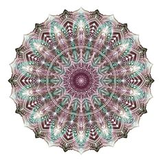 Mandala white on colours by WelshPixie on DeviantArt