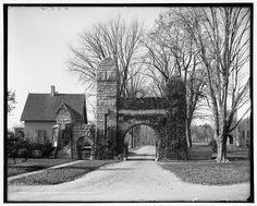 1906 photograph of the entrance to Pittsfield cemetery, in the Berkshires.