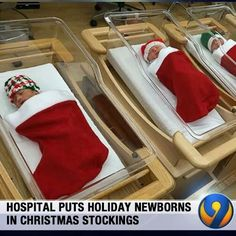 hospital sends babies home in Christmas stockings University of Pittsburgh Medical Center once again proves that babies make great stocking stuffers.University of Pittsburgh Medical Center once again proves that babies make great stocking stuffers. Newborn Christmas, Christmas Baby, Merry Christmas, Christmas Time, Christmas Loading, Christmas Ideas, Jingle Bell, Santa Baby, Christmas Vacation
