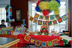 Sesame Street First Birthday Decorations Elmo Birthday, Baby Girl Birthday, First Birthday Parties, First Birthdays, Birthday Ideas, Ball Birthday, Kid Parties, Sesame Street Party, Sesame Street Birthday