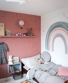 Girls Rainbow bedroom – little girl rooms Big Girl Bedrooms, Little Girl Rooms, Rainbow Bedroom, Rainbow Girls Rooms, Rainbow Room Kids, Baby Bedroom, Bedroom Girls, Bedroom Ideas, Toddler Rooms