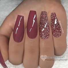 REPOST - - - - Marsala red and glitter on long coffin nails - - - - Image and . REPOST – – – – Marsala red and glitter on long coffin nails – – – – Image and … Coffin Nails Long, Long Nails, Short Nails, Nail Pictures, Best Acrylic Nails, Acrylic Nails Autumn, Acrylic Nails Coffin Glitter, Acrylic Nails Maroon, Acrylic Nails For Summer Coffin
