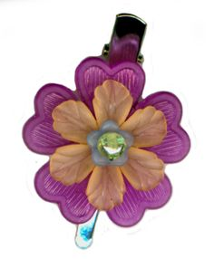 Flower Hair Pin Clip Handmade Hair Bauble Purple by HairBobbies, $8.00