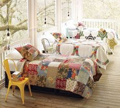 quilts and sunlight... heaven