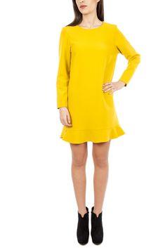 MAYRA - ROCHIE DREAPTA GALBENA ELA Casual, Dresses, Fashion, Vestidos, Moda, Fashion Styles, Dress, Fashion Illustrations, Gown