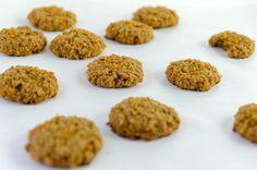 Galletas de zanahoria y avena, sin azucares refinados ni harina