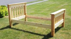 Simple Bed Twin Do It Yourself Home Projects from Ana White A bed I build from plans found at Anna White Plywood Furniture, Diy Furniture Plans, Furniture Projects, Home Projects, Furniture Design, Outdoor Furniture, Ana White, Diy Twin Bed Frame, Simple Bed Frame
